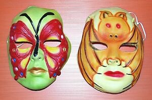 Lot Of 2 Halloween Rubber Mask, For Halloween Party, Fancy Dress (m-035)