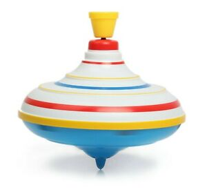 Russian Spinning Top Toy Volchok Yula With Stripes - Pump And Spin
