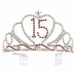 15 Heart Tiara 15th Birthday Party Accessories Supplies, Quinceanera Crown