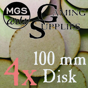 4x 100mm Round Laser Cut Mdf Miniature Warhammer Bases Free Shipping!!!
