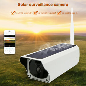 1080p 2.4ghz Wifi Wireless Support Tf Card 4gb-64gbsolar Powered Security Camer
