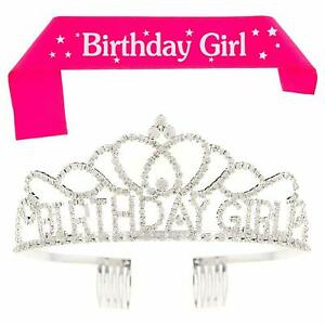 Birthday Girl Tiara And Sash Bundle Party Supplies Accessories, Birthday Girl