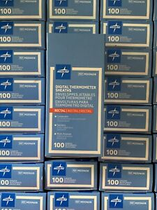 Case Of 1000 (10 Boxes) Mds9608 - Digital Rectal Thermometers Sheaths Medline