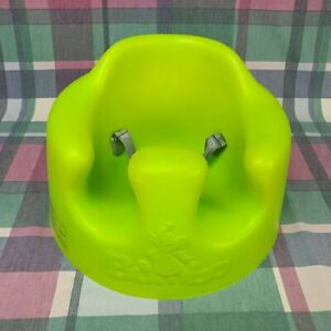 Bumbo Baby Floor Seat Chair Lime Green With Safety Belt Straps - Good Condition