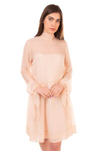 Rrp €820 Emilio Pucci Silk Shift Dress Size 42 / S Funnel Neck Made In Italy