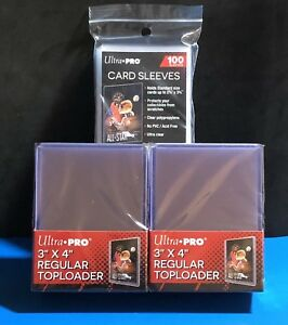 Ultra-pro 50 Toploaders + 100pcs Regular Penny Sleeves (150 Total Pieces)