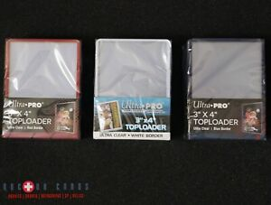 Ultra Pro Red, White, & Blue 🇺🇸 Toploaders 3 Packs = 75pcs | Three Pack Set