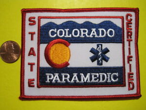 Colorado  Paramedic Patch Look Best Price Get It Now! Close Out End When Sold