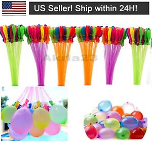 444 Pcs 12 Bunch O Instant Water Balloons, Rapid-fill, Self-sealing,already Tied