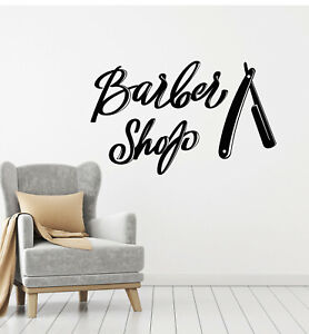 Vinyl Wall Decal Barber Shop Shaving Haircuts Man's Hair Style Stickers (g2743)