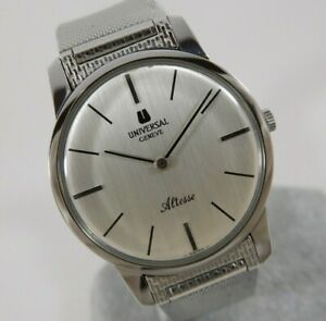 Universal Geneve Altesse White Dial Ref. 842101 Cal.42 Swiss Vintage Watch