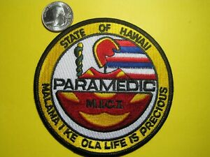 Hawaii Paramedic Patch Circle Best On Ebay First Responder Look New Low Price!!!