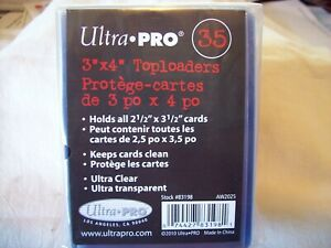 Pack Of 35 - Ultra Pro 3x4 Regular Clear Rigid Top Loaders - Free Shipping