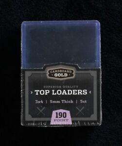 20 Ultra Cbg Pro 3x4 Top Loaders Super Memorabilia 5mm 190pt Thick Cards Jersey