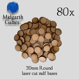 80x Round 20mm Mdf Bases Miniature Warhammer Aos 40k Free Shipping Us Seller