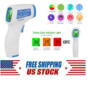 Infrared Thermometer Digital Forehead Gun Fever Non Contact Ce Fcc Adult Baby Us