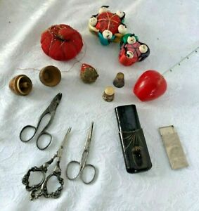Large Lot Vintage Sewing Supplies - Accessories Lot All  Original
