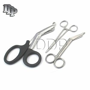 Ddp Black Emt/ Paramedic Tools With Bandage Scissors And Shears Including Lister