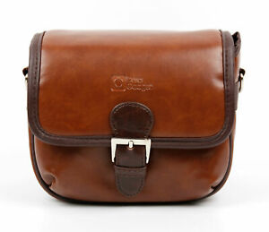 Duragadget Small Pu Leather Satchel Bag - Suitable For Deepow 10w Ip67 Speaker