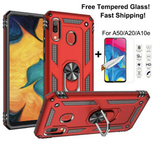 For Samsung Galaxy A10e A20 A50 Magnetic Ring Stand Armor Case Cover+screen