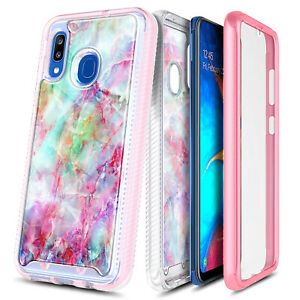 For Samsung Galaxy A10e A20 A30s A50 Case Slim Built-in Screen Protector Cover