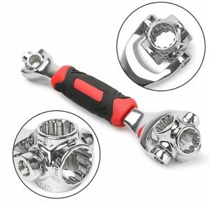 48 In 1 Universal 360 Degree Rotating Head Rubber Handle Socket Spanner Wrench