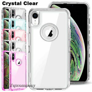 Clear Case For Iphone Xs Max X Xr Xs 10 Shockproof Heavy Duty Hard Phone Cover