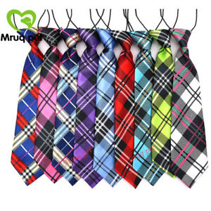 10pcs New Pet Large Dog Necktie Plaid Dog Ties Dog Accessories Pet Supplies