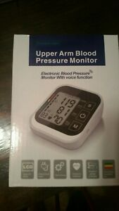 Microcomputer Intelligent Upperarm Blood Pressure Monitor Electronic Voice Funct