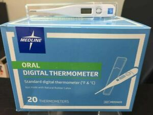 20pc Box Digital Lcd Fever Thermometer Oral/underarm Medline Adult Fast Ship
