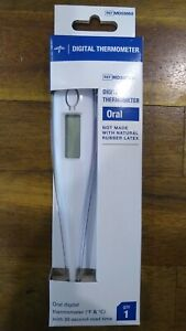New - Medline 30 Second Oral Digital Thermometers °f & °c Reading