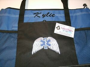 Paramedic Emt Star Of Life Wings  Personalized Tote Bag