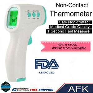 Afk® Non-contact Digital Ir Infrared Forehead Thermometer Gun Fda Certificated