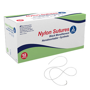 Nylon Sutures-non Absorbable Synthetic, Black, 6-0, C3 Needle, L-18