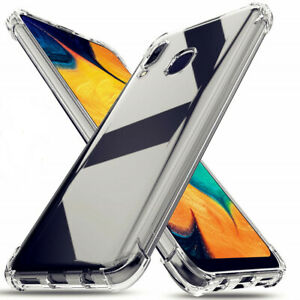 For Samsung Galaxy A20 / A30  Shockproof Clear Thin Rubber Phone Case Cover