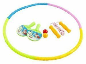 (set Of 3 Play Games) Snap Together Exercise Hula Hoop For Kids, Ping Pong Set..