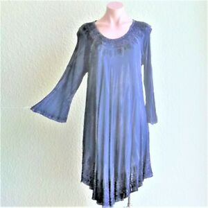 Sale India Boutique Umbrella Style Long Sleeve Short Dress/cover Up One Size Nwt