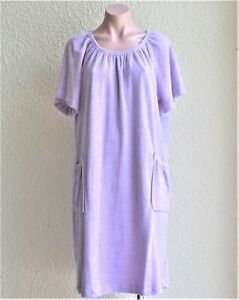 Sale Cotton/poly Short Sleeve Terrycloth Cover Up W/pockets Size S/m, Runs Large