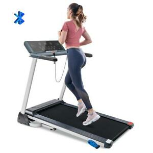Folding Treadmill Electric Motorized Running Machine With Bluetooth, Speakers Us