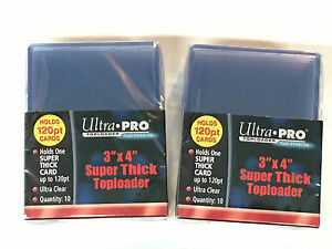 20 Ultra Pro 120 Pt 3x4 Super Thick Toploaders Baseball Pokemon Magic Nba Nfl