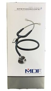 Mdf Md One All Black 777 Stainless Steel Dual Head Stethoscope Open Box