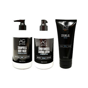 Ag Hair Care Shampoo/body Wash, Conditioner/shave Lotion, And Styling Jel