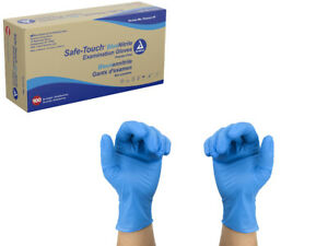 Dynarex Safe Touch Blue Nitrile Exam Gloves Powder Free - Select Size And Qty