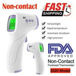Temporal Forehead Thermometer Gun Lcd Digital Ir Infrared Adult Body Temperature
