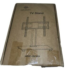 Universal Tv Mount Stand With Tempered Glass Base For Flat Screens 32-55 Inches