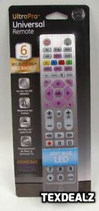 Ge 37038 6 Device Ultrapro Universal Remote Control Backlit Streaming