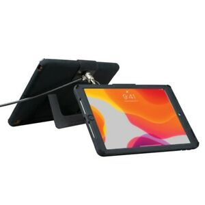 Cta Digital Pad-sckt10 Security Case With Kickstand And Antitheft Cable For Ipad