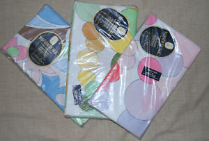 Three Vintage Emilio Pucci Springmaid Wondercale Twin And Double Sheets Unopened