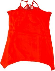 Nwot Neon Coral Orange Swim Suit Cover Up Small Medium