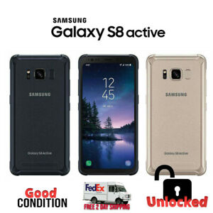 Samsung Galaxy S8 Active Gray Gold Blue (sm-g892a, Gsm Unlocked) Good Condition